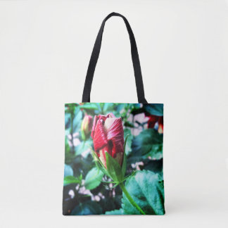 Bolso De Tela Brote del hibisco alrededor a la floración