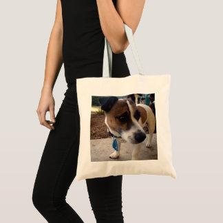 Bolso De Tela Brown y fox terrier blanco,