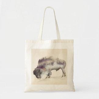 Bolso De Tela búfalo-paisaje exposición-americano Búfalo-doble