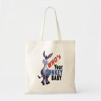 Bolso De Tela Burro divertido, que es su bebé del burro