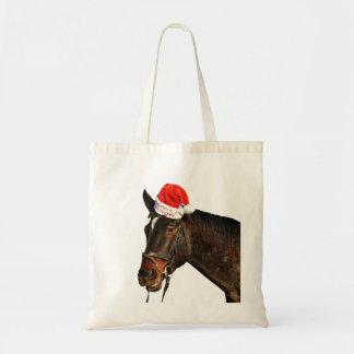 Bolso De Tela Caballo santa - caballo del navidad - Felices