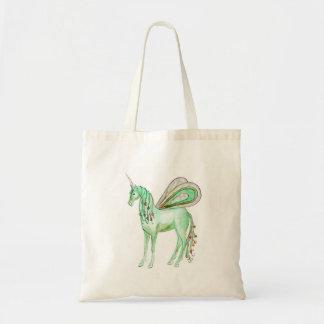 Bolso De Tela Caballo verde de la hada del unicornio