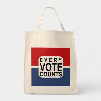 Bolso De Tela Cada voto cuenta el tote