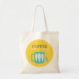 Bolso De Tela Café - un abrazo en una taza