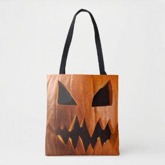 Bolso De Tela Calabaza enojada de Halloween