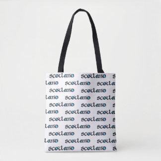 Bolso De Tela Caligrafía medieval del estilo de Escocia,