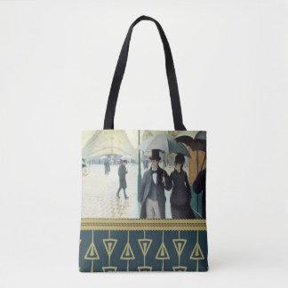 Bolso De Tela CALLE de Gustave Caillebotte PARÍS, DÍA LLUVIOSO
