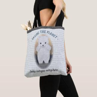 Bolso De Tela Cambio de clima triste del oso polar del bebé