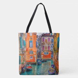 Bolso De Tela Canal de Venecia Italia