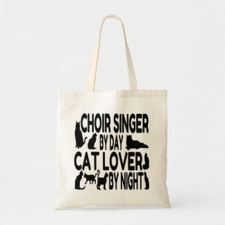 Bolso De Tela Cantante del coro del amante del gato