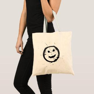 Bolso De Tela Cara sonriente feliz derramada y manchada
