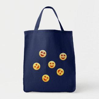 Bolso De Tela caras felices de las galletas