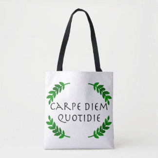 Bolso De Tela Carpe Diem Quotidie - agarre el día, cada día