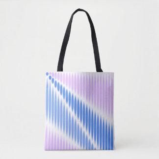 Bolso De Tela Cesta azul rosada
