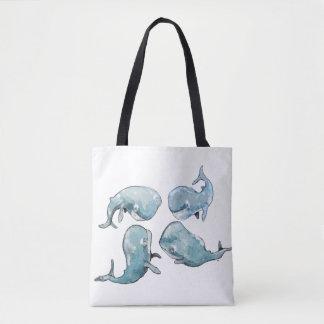 Bolso De Tela Charla de la ballena