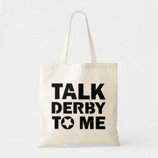Bolso De Tela Charla Derby a mí, diseño del chica de Derby del