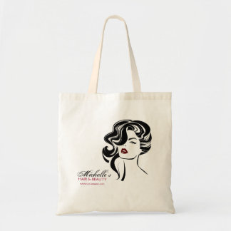 Bolso De Tela Chica precioso con el icono del maquillaje del
