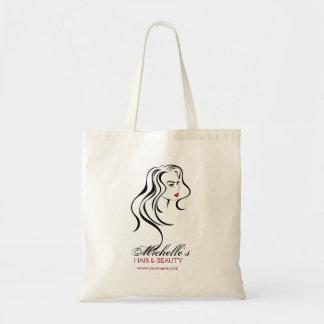 Bolso De Tela Chica precioso con el icono del pelo ondulado y