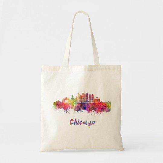 Bolso De Tela Chicago V2 skyline in watercolor