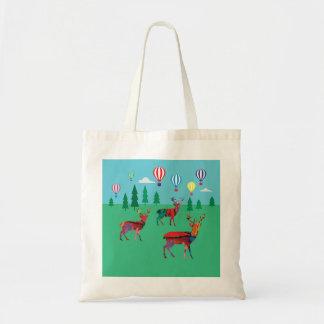 Bolso De Tela Ciervos en el bosque