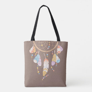 Bolso De Tela Cita tribal de Dreamcatcher Boho Brown