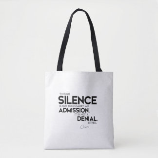 Bolso De Tela CITAS: Cicero: Silencio, admisión, negación