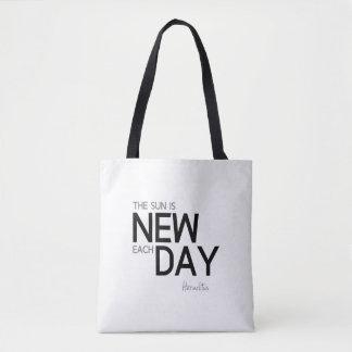 Bolso De Tela CITAS: Heraclitus: El sol es nuevo cada día