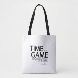 Bolso De Tela CITAS: Heraclitus: El tiempo es un juego