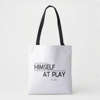 Bolso De Tela CITAS: Heraclitus: Niño en el juego
