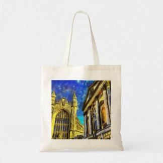 Bolso De Tela Ciudad Van Gogh del baño