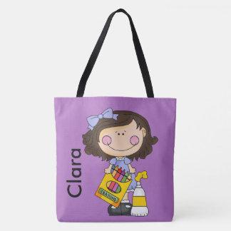 Bolso De Tela Clara ama los creyones