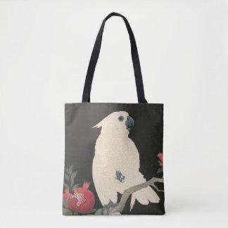 Bolso De Tela Cockatoo blanco japonés de la bella arte el | del