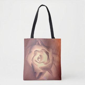 Bolso De Tela Color de rosa botánico del melocotón color de rosa