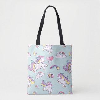 Bolso De Tela Color en colores pastel del unicornio mágico lindo