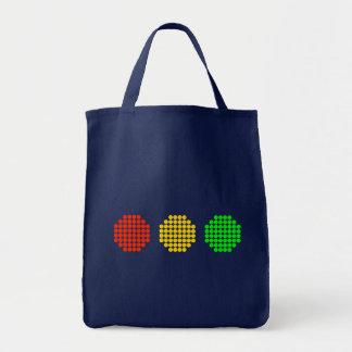 Bolso De Tela Colores horizontales de la luz de parada del punto