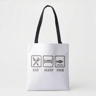 Bolso De Tela Coma los pescados del sueño