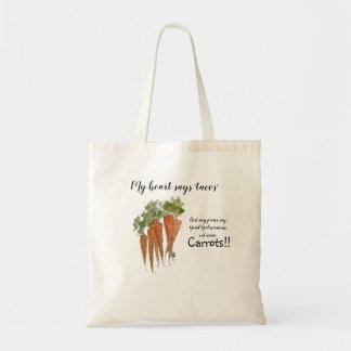 Bolso De Tela Coma más tote de las zanahorias