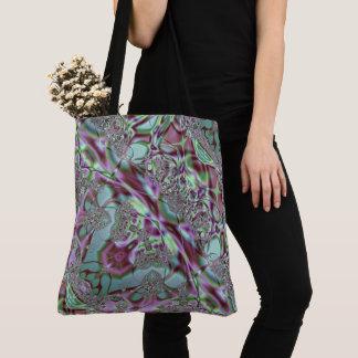 Bolso De Tela Cordón púrpura y azul