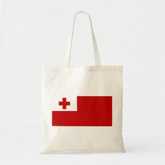 Bolso De Tela Cruz Roja de la bandera de la isla de Tonga