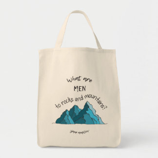 Bolso De Tela ¿Cuáles son hombres a las rocas y a las montañas?