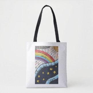 Bolso De Tela Cuando llueve busque los arco iris