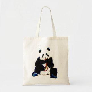 Bolso De Tela Cuando una panda coge un arco iris…