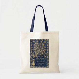 Bolso De Tela Cubierta Jane Austen del pavo real del orgullo