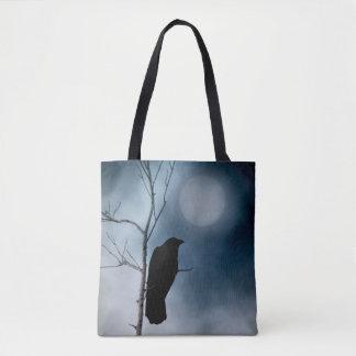 Bolso De Tela Cuervo y la luna suave