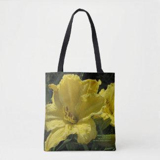 Bolso De Tela Daylilies amarillos majestuosos