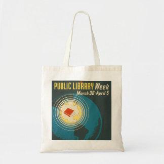 "Bolso De Tela De la ""tote semana de la biblioteca pública"" del"
