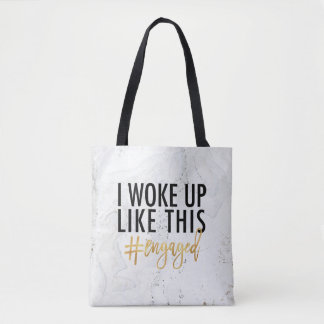 Bolso De Tela ¡Desperté como esto #engaged!