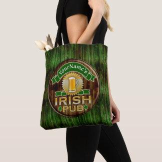 Bolso De Tela Día irlandés del St Patricks de la muestra del Pub