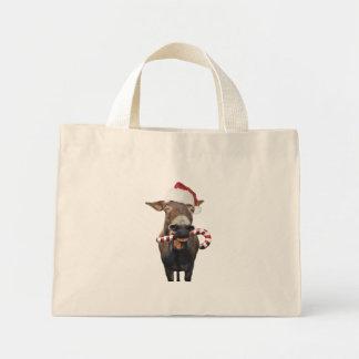 Bolso De Tela Diminuto Burro del navidad - burro de santa - burro santa