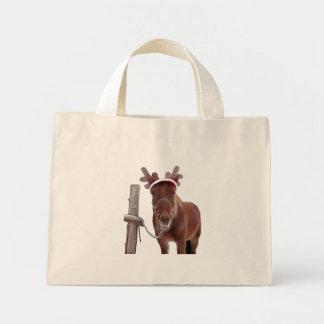 Bolso De Tela Diminuto Ciervos del caballo - caballo del navidad -